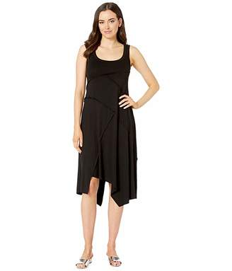 Karen Kane Seamed Handkerchief Hem Dress