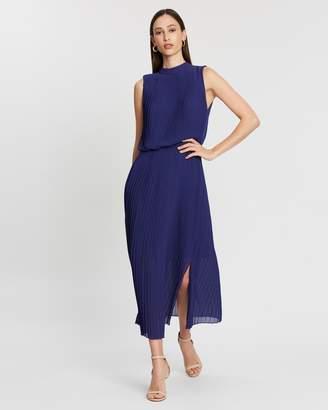 Reiss Ray Pleated Midi Dress