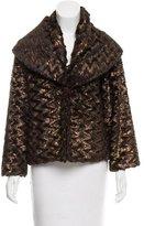 Alice + Olivia Metallic-Accented Faux-Fur Coat
