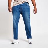 River Island Big and Tall mid blue Dean straight leg jeans