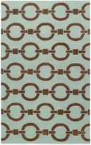 Payne Rizzy Home Vicky Collection Chain Rug in Blue