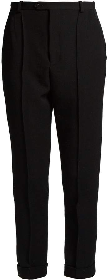 Isabel Marant Jo high-rise slim-leg wool-twill trousers