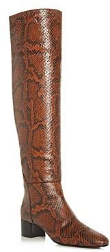 Giuseppe Zanotti Women's Mascolina Snake-Embossed Block-Heel Boots