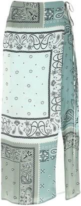 Amiri Paisley Print Skirt