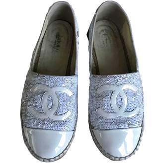 Chanel White Patent leather Espadrilles