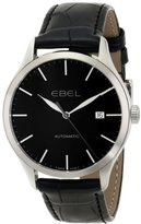 Ebel Men's 1216089 100 Stainless Steel Watch with Black Leather Band
