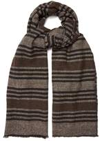 Denis Colomb Namache striped cashmere-blend scarf