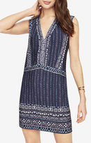 BCBGMAXAZRIA Bridgit Print-Blocked Dress