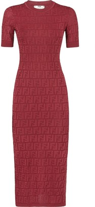 Fendi FF intarsia knitted dress