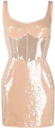 David Koma Sequin Embellished Dress