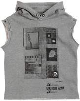 Diesel Hooded Cotton Sleeveless Sweatshirt