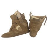 Isabel Marant Camel Suede Trainers