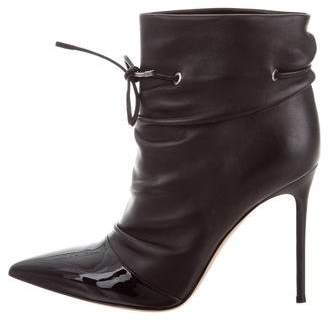 Gianvito Rossi Ruched Ankle Boots