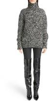 Saint Laurent Women's Melange Knit Wool Turtleneck Sweater
