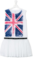 John Galliano teen Union Jack dress - kids - Cotton/Polyester/Spandex/Elastane - 14 yrs
