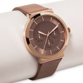 Xhilaration Women's Tan Strap Watch with Gold Face and Bezel