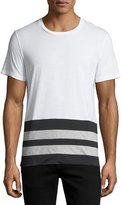 Burberry Radley Contrast-Stripe T-Shirt, White