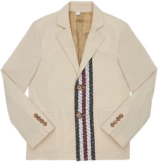 Burberry Logo Print Cotton Jacket
