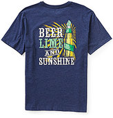 Caribbean Short Sleeve Beer Lime Screen Print Heathered Graphic Tee