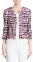 St. John Women's Montserrat Tweed Fringe Jacket