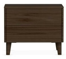 Calligaris Boston 2 Drawer Nightstand Frame Color: Smoke, Color: Smoke, Leg Color: Smoke