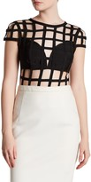 Wow Couture Short Sleeve Open Cage Bodysuit