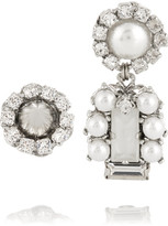 Erickson Beamon I Do Silver-plated, Swarovski Crystal And Faux Pearl Earrings - one size