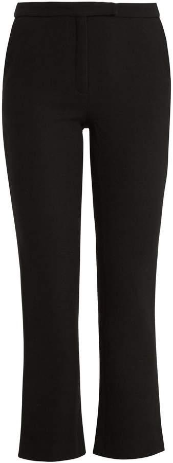 Osman Yasmin kick-flare wool cropped trousers