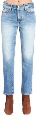 Alanui Embroidered Straight-Leg Jeans