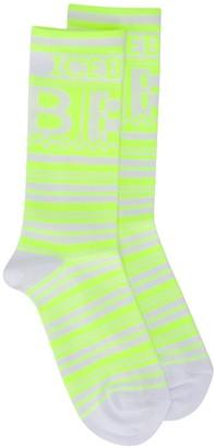 Iceberg logo knitted socks