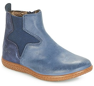 Kickers VERMILLON girls's High Boots in Blue