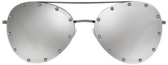 Valentino Jewelled Mirror Aviator Sunglasses
