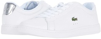 Lacoste Carnaby Evo 220 1 (White/Silver) Women's Shoes