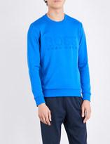 BOSS GREEN Logo-embossed cotton-blend sweatshirt