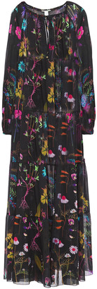 Stella McCartney Tiered Floral-print Cotton And Silk-blend Voile Coverup