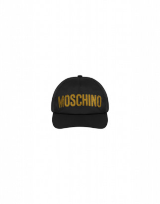 Moschino Hat With Sequin Logo Woman Black Size 4a It - (4y Us)