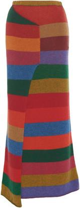 The Elder Statesman Super Duper Cashmere Wrap Maxi Skirt