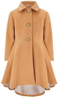 Monsoon Girls Harriet Coat With Detachable Faux fur Collar - Camel