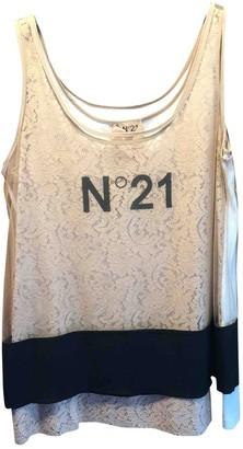 N°21 N21 Beige Cotton Top for Women