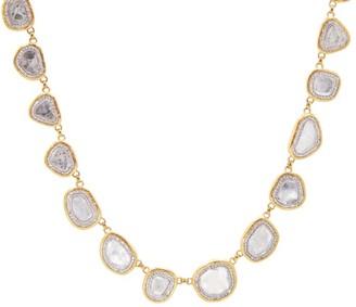 Gurhan Elements 18K & 24K Two-Tone Gold & Diamond Slice Station Necklace