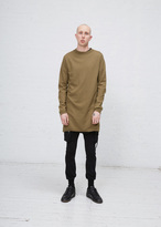Rick Owens gold boiled cashmere funnel neck