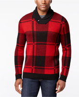Club Room Men's Shawl-Collar Plaid Sweater, Only at Macy's
