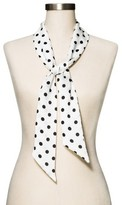 Merona Women's Black Polka Dot Fashion Scarf