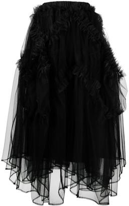 Comme des Garcons Ruffle-Trim Mid-Length Skirt