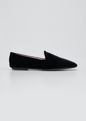 Rodo Velvet Flat Smoking Loafers
