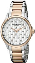 Stuhrling Original Women's 567.03 Vogue Swiss Quartz Crystal Dial Two Tone Rose Watch