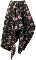 Preen by Thornton Bregazzi asymmetric draped floral skirt