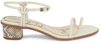 Sam Edelman Isle Leather Side-Buckle Ankle-Strap Sandals