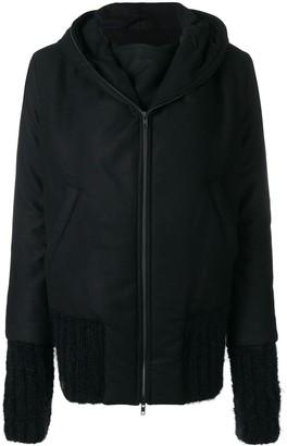 Ann Demeulemeester Zipped Hooded Coat