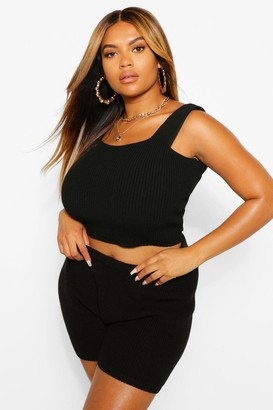 boohoo Plus Knitted tank Top